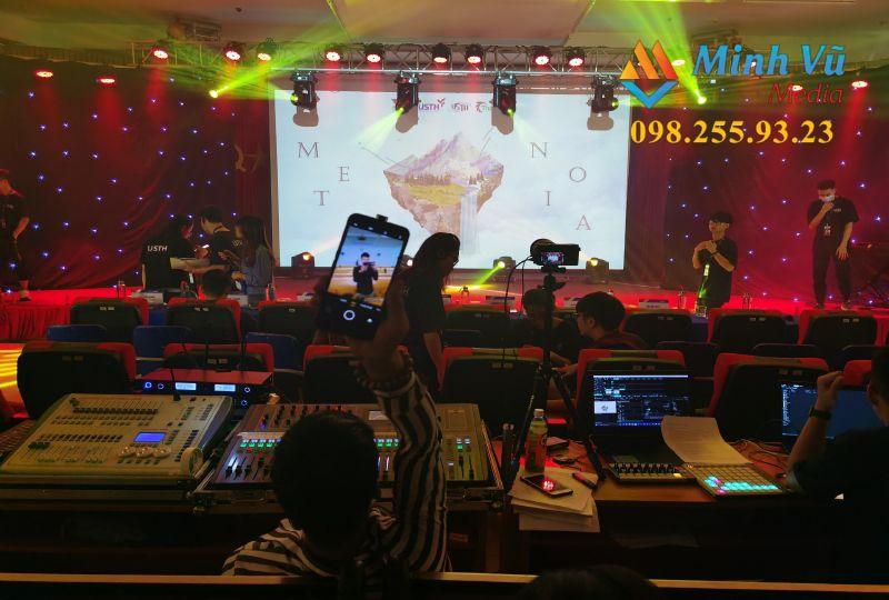 Hệ thống âm thanh ánh sáng của Minh Vũ Mediacho sự kiện 20/11 tại trường đại học