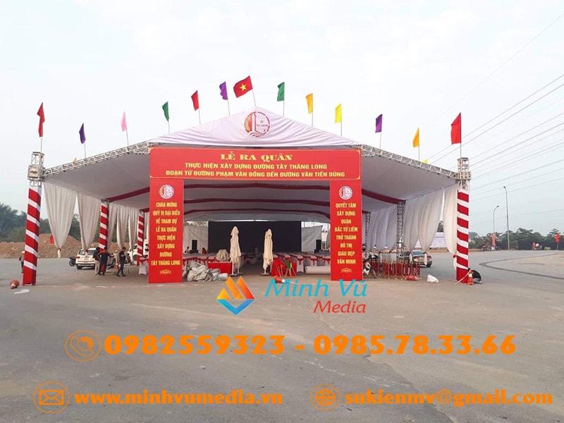 Minh Vũ media chuyên cho thuê nhà bạt