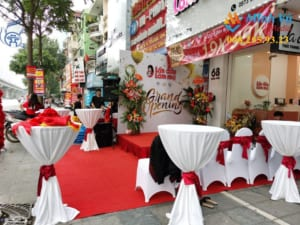 Minh Vũ Media chịu trách nhiệm kịch bản và trang trí sự kiện khai trương
