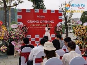 Hình ảnh buổi lễ khai trương shop quần áo do Minh Vũ thực hiện