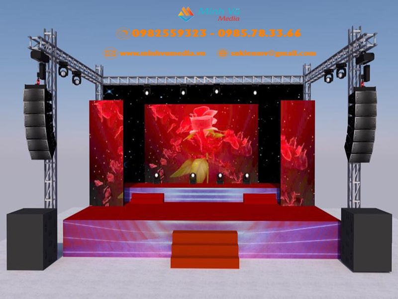 Lên cấu hình âm thanh ánh sáng sân khấu màn hình led