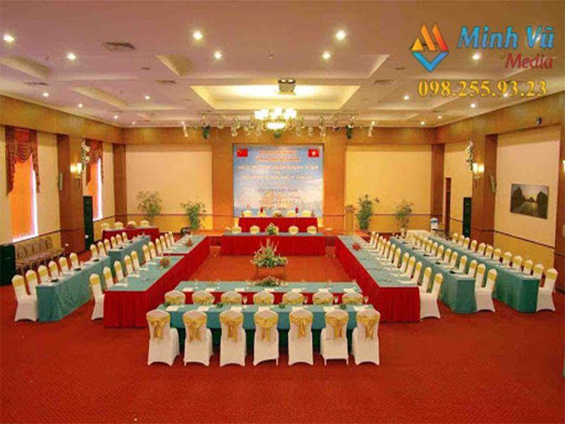 Không gian của buổi hội nghị, hội thảo được Minh Vũ chuẩn bị