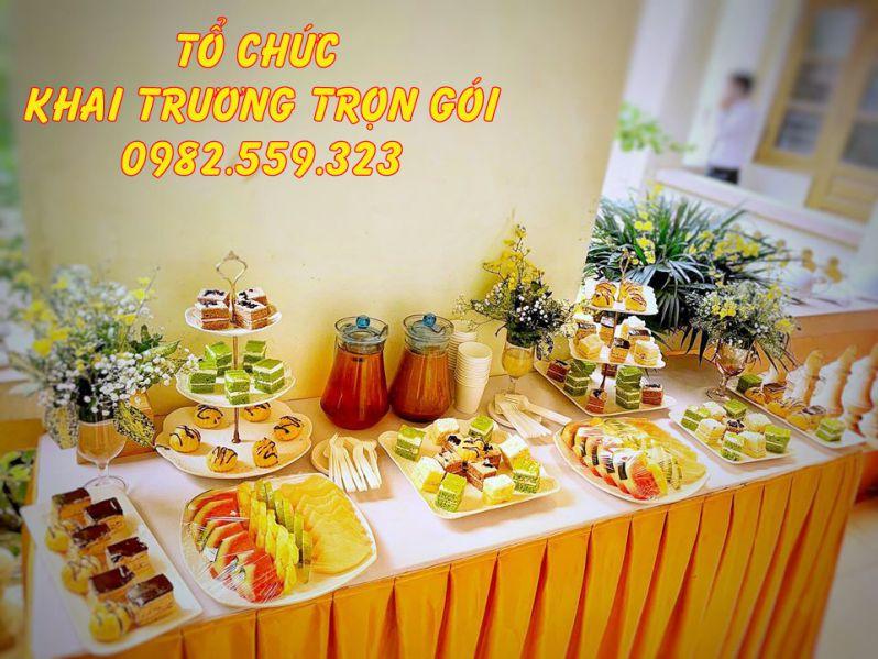 Phần tiệc teabreak do Minh Vũ Media thực hiện