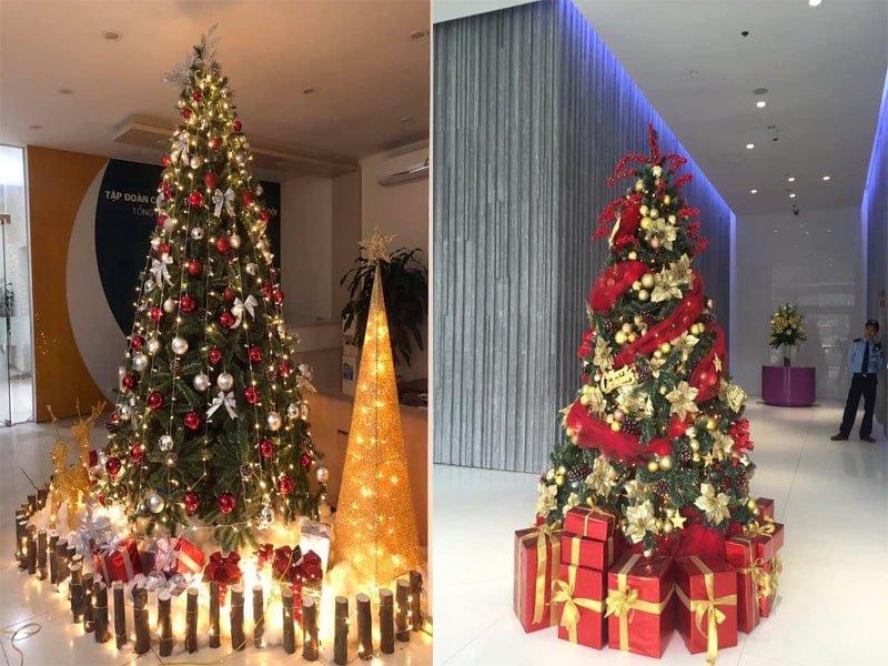 Minh Vũ Media cungn cấp cây thông noel trang trí trung tâm thương mại